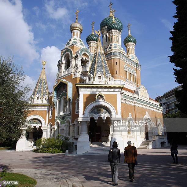' French court rules Nice cathedral is Russian property ' A picture taken on October 29 shows people looking at the SaintNicolas Orthodox cathedral...
