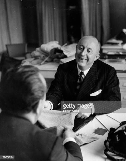 French couturier Christian Ernest Dior in his studio in Paris.