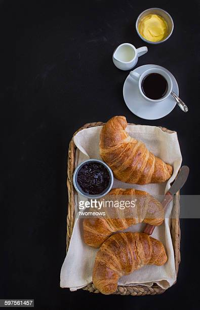 French croissant in basket. croissant in basket.h