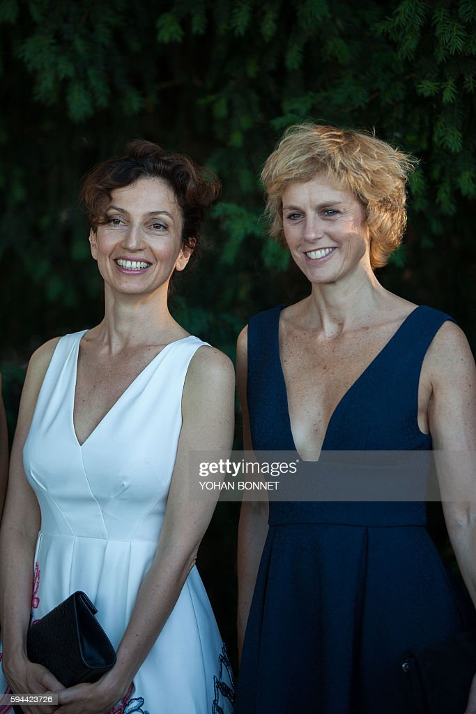 french culture minister audrey azoulay and french actress. Black Bedroom Furniture Sets. Home Design Ideas