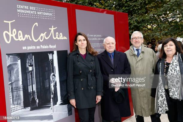 French Culture Minister Aurelie Filippetti entrepreneur and patron of the arts Pierre Berge who is the executor of Cocteau's estate President of the...