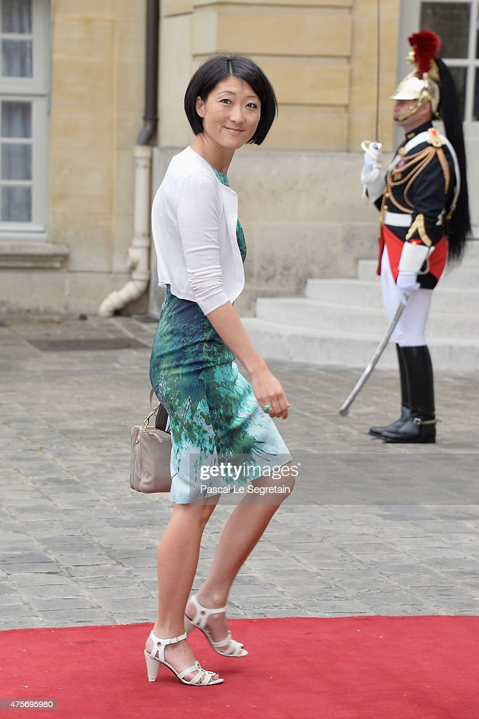 French Culture Minister Fleur Pellerin is seen in the courtyard of the Hotel Matignon on June 3, 2015 in Paris, France.