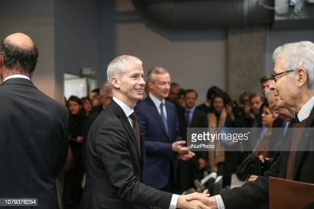 French Culture Minister Franck Riester with French Economy Minister Bruno Le Maire at The DocksCity of Fashion and Design in Paris on January 08 2019...