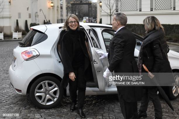 French Culture Minister Francoise Nyssen arrives to attend a government's New Year breakfast meeting at the Interior Ministry in Paris on January 3...