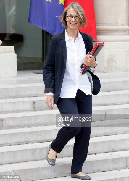 French Culture Minister Francoise Nyssen leaves the Elysee Presidential Palace after a weekly cabinet meeting on june 28 2017 in Paris France On...