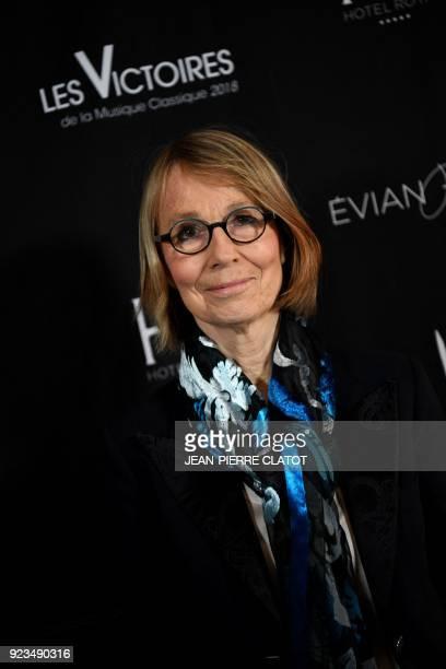 French Culture Minister Françoise Nyssen looks on ahead of the 'Victoire de la musique classique' award ceremony at The Grange au Lac Auditorium in...