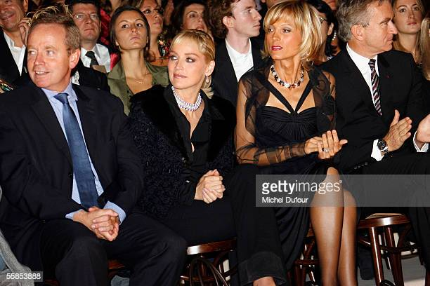 French Culture Minister Renaud Donnedieu de Vabres, actress Sharon Stone, pianist Helene Mercier Arnault and her husband Bernard Arnault, CEO and...