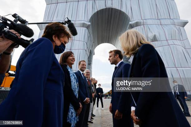 French Culture Minister Roselyne Bachelot, Paris Mayor and Socialist Party candidate for the 2022 French presidential elections Anne Hidalgo, French...