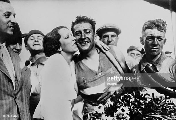 French cyclist Georges Speicher at his winning of the Road Cycling World Championships at the Autodrome LinasMontlhery 15th August 1933 Photograph...