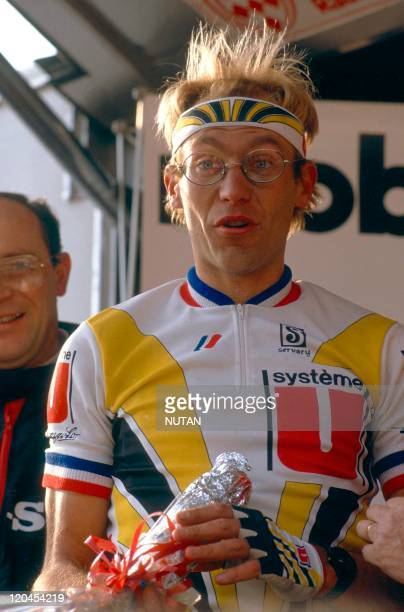 French cyclist Laurent Fignon during Tour de France, in France in 1987.