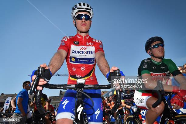 French cyclist Remi Cavagna C0 of QuickStep Floors takes the start of the fifth stage of the Baloise Belgium Tour cycling race6 km from Tienen to...