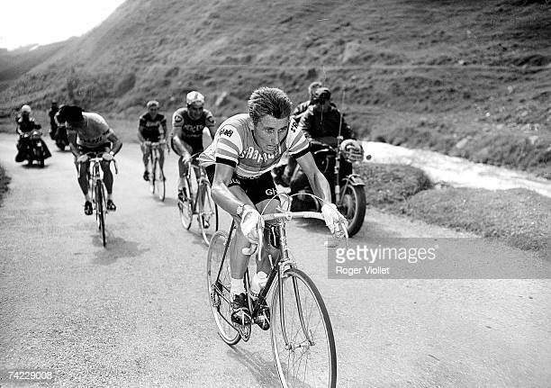 French cyclists Jacques Anquetil centre and Raymond Poulidor during the 1950 Tour de France