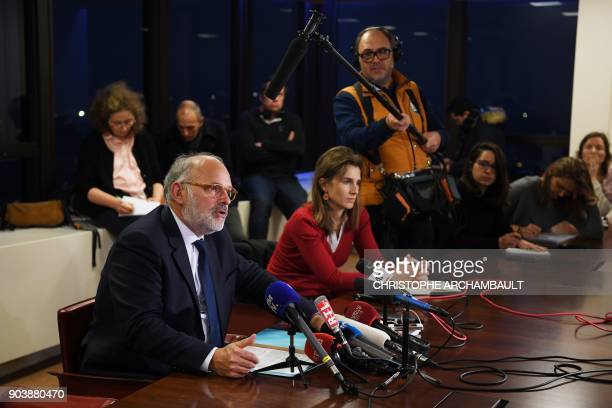 French dairy group Lactalis spokesman Michel Nalet gives a press conference on January 11 in Paris France said on January 11 there has been a major...
