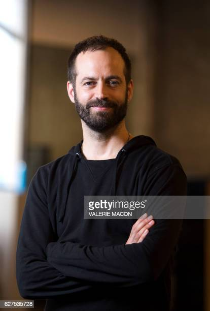 French dancer and choreographer Benjamin Millepied poses for a portrait session on December 1 2016 at The Los Angeles Theater Center in Los Angeles...