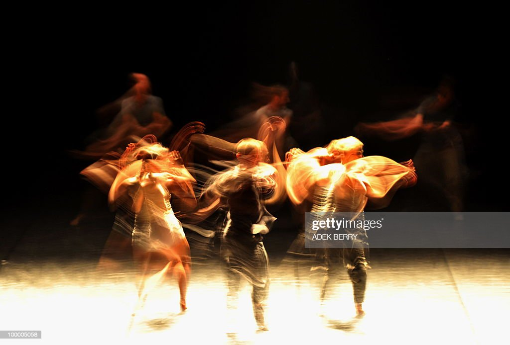 French dancers of Emanuel Gat dance company perform 'Silent Ballet' during Le Printemps Français or French Art Festival in Jakarta on May 19, 2010. Dancer and choreographer Emanuel Gat and his company 'cie Emanuel Gat' presented two absolute highlights of the musical repertory 'Le Sacre du Printemps' of Igor Stravinski and 'Voyage d'hiver' of Franz Schubert during French Art Festival held from April 27 to July 25.