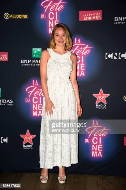 French Deborah Francois poses during a photocall for the press launch of the 33rd edition of the Fete du Cinema at the Cite du Cinema in SaintDenis...
