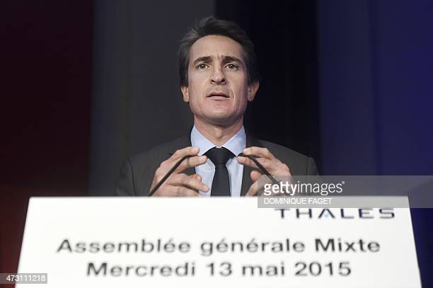 French defence giant Thales' Chief Executive Officer Patrice Caine delivers a speech during the company's general meeting on May 13 2015 in Paris AFP...
