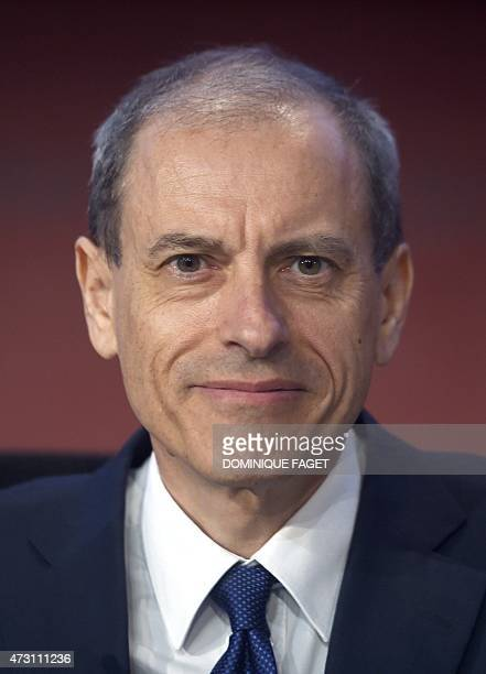 French defence giant Thales' finance general director Pascal Bouchiat poses during the company's general meeting on May 13 2015 in Paris AFP PHOTO /...