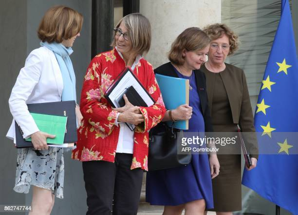 French Defence Minister Florence Parly French Culture Minister Francoise Nyssen French Minister attached to the Foreign Affairs Minister Nathalie...