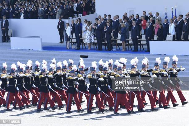 French Defence Minister Florence Parly French Prime Minister Edouard Philippe US President Donald Trump and US First Lady Melania Trump French...