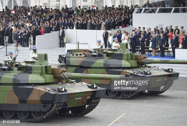 French Defence Minister Florence Parly, French Prime Minister Edouard Philippe, US President Donald Trump and his wife First Lady Melania Trump,...