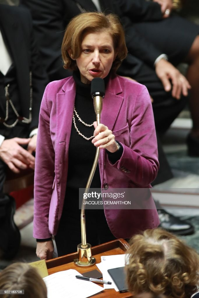 French Defence Minister Florence Parly speaks during a session of questions to the government at the National Assembly in Paris on February 21, 2018. /