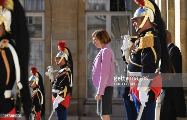 French Defence Minister Florence Parly waits for the arrival of her Spanish counterpart for talks in Paris on September 11, 2019.
