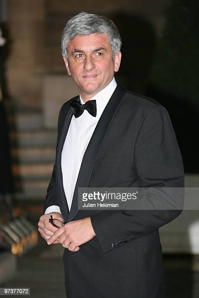 French Defence Minister Herve Morin arrives to attend a state dinner honouring visiting Russian President Dmitry Medvedev at Elysee Palace on March...