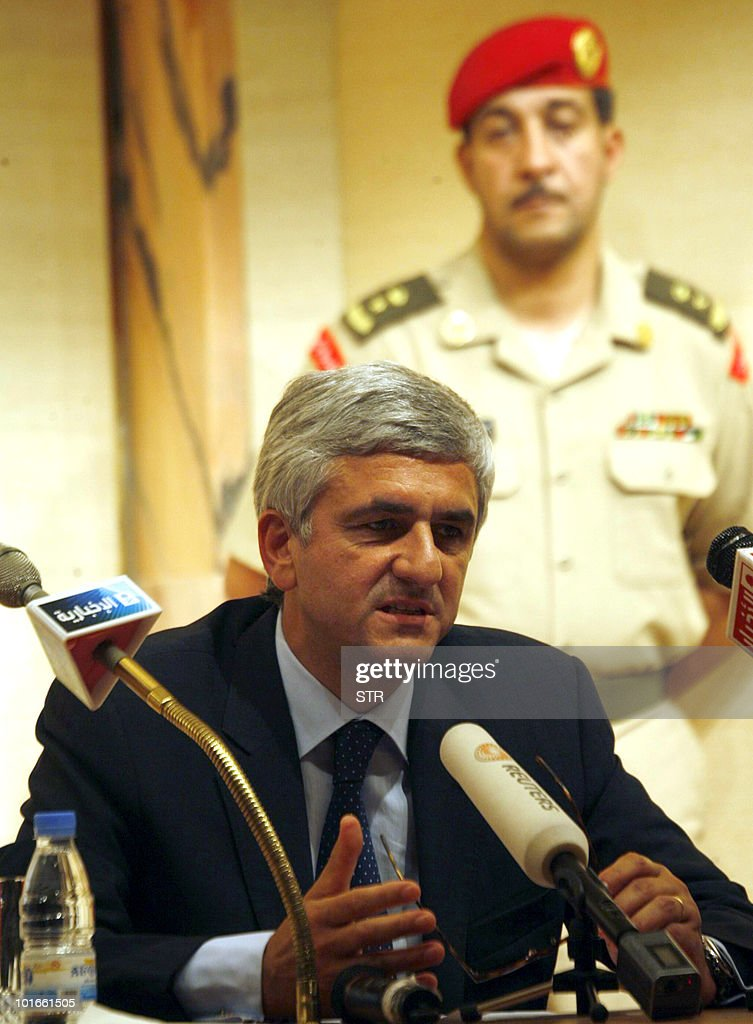 French Defence Minister Herve Morin holds a press conference at Riyadh airport as he wraps up a two-day visit to Saudi Arabia on June 6, 2010, where he reiterated that France and Saudi Arabia share the same 'concerns' about Iran's nuclear programme.