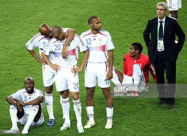 French defender William Gallas defender JeanAlain Boumsong forward David Trezeguet forward Thierry Henry midfielder Florent Malouda and head coach...