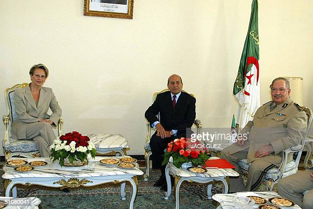 French Defense Minister Michele AlliotMarie meets Algerian General Gaid Salah and Algerian Interior Minister Noureddine Yazid Zerhouni 18 July 20047...