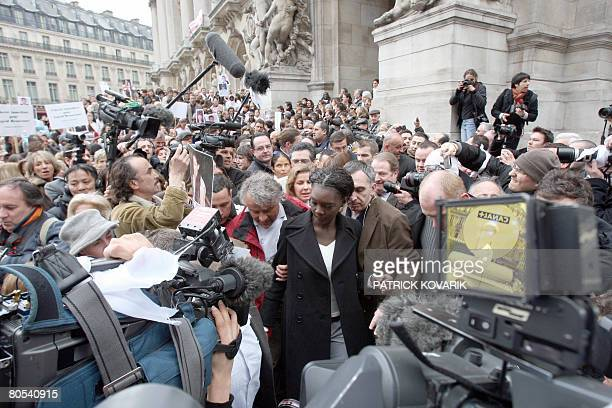 French deputy minister for Human Rights Rama Yade and former Fabrice Delloye former husband of French Colombian hostage Ingrid Betancourt take part...
