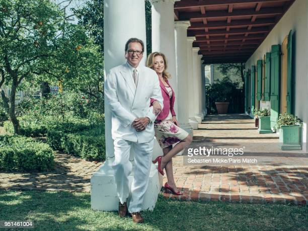 French descendants of JeanFrançois Pitot and Jacques Philippe Villere Pierre Villere and his wife Suzie are photographed for Paris Match at home on...