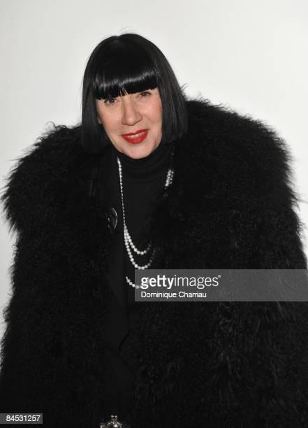 French Designer Chantal Thomass the Elie Saab fashion show during Paris Fashion Week Menswear Autumn/Winter 2009 at Palais de Tokyo on January 28...
