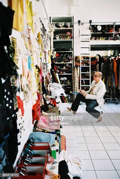 French designer Christian Lacroix is photographed for Self Assignment on July 2006 in Paris France