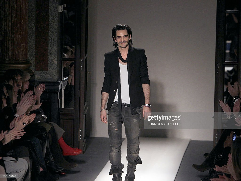 French designer Christophe Decarnin ackn : News Photo