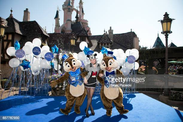 French designer Marie Marquet of 'Mini Me Paris' attends the Disneyland Paris 25th Anniversary at Disneyland Paris on March 25 2017 in Paris France