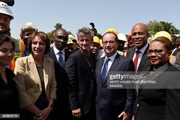 French diplomat Annick Girardin French minister for Social Affairs and Health Marisol Touraine Haitian Prime Minister Evans Paul US actor Sean Penn...