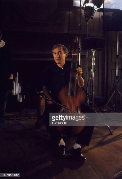 French director Alain Corneau on the set of his film Tous les Matins du Monde