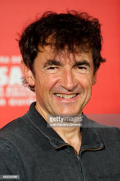 French director Albert Dupontel attends '9 Mois Ferme' photocall at Santo Mauro Hotel on April 8 2014 in Madrid Spain
