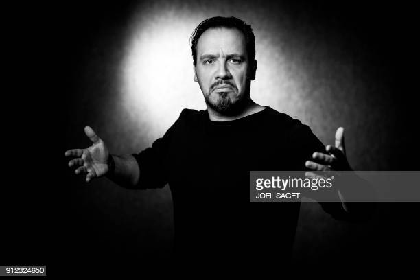 French director and actor Alexandre Astier poses during a photo session during the 45th edition of the Angouleme International Comics Festival in...