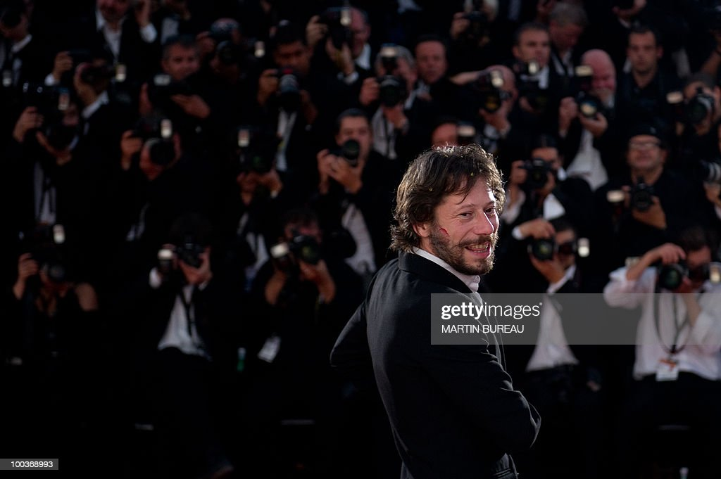 French director and actor Mathieu Amalric poses after winning the Best Director award for his film 'Tournee' (On Tour) during the photocall of the closing ceremony at the 63rd Cannes Film Festival on May 23, 2010 in Cannes.