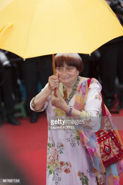 French director and President of the Camera d'Or Jury Agnes Varda arrives on May 16 2013 arrives for the screening of the film 'Young and Beautiful'...