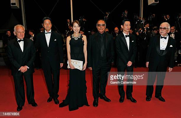French director and producer Marin Karmitz Japanese actress Rin Takanashi Iranian director Abbas Kiarostami Japanese actor Tadashi Okuno and Japanese...
