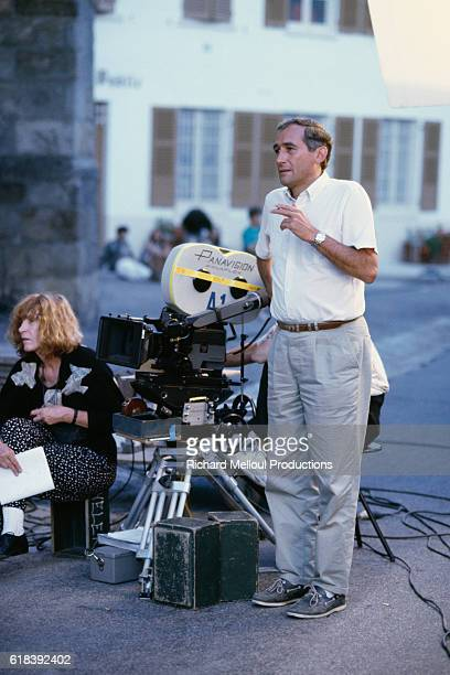 French director and screenwriter Alain Corneau on the set of his movie Tous les Matins du Monde
