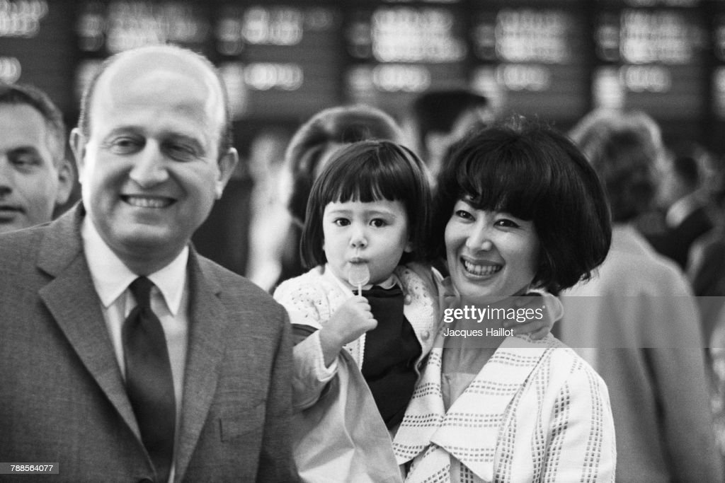 French director and screenwriter Yves Ciampi, his wife, Japanese actress Keiko Kishi, and their daughter.