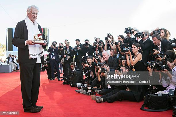 French director Bartrand Tavernier receives the Golden Lion for Lifetime Achievement during the 72nd International Venice Film Festival.