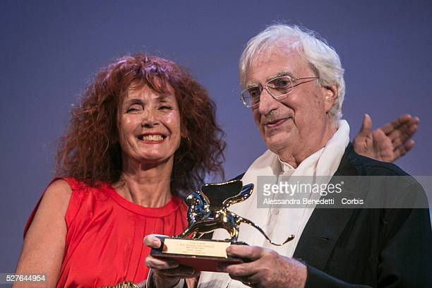French director Bartrand Tavernier with Sabine Azema receives the Golden Lion for Lifetime Achievement during the 72nd International Venice Film...