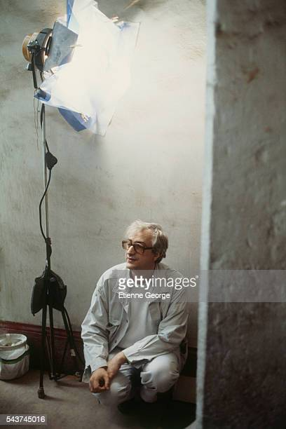 French director Bertrand Tavernier on the set of his film Round Midnight based on the David Rayfiel screenplay