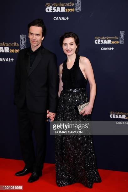 French director Boris Lojkine and French actress Nina Meurisse pose upon their arrival at the 45th edition of the Cesar Film Awards ceremony at the...
